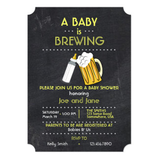 A Baby Is Brewing Card
