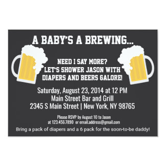 A Baby is Brewing Diaper Shower Invitation
