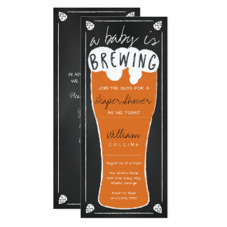 A Baby Is Brewing Shower Invitation, Diaper Shower Card