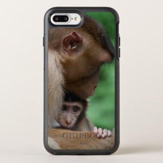 A Baby Macaque And It'S Mother OtterBox Symmetry iPhone 7 Plus Case