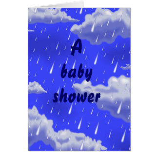 A baby shower  inventation card