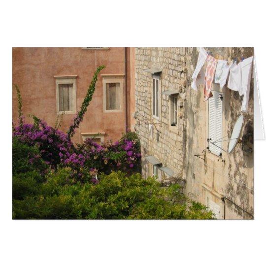 A Backyard in Dubrovnik Card