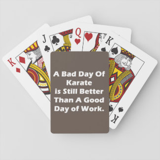 A Bad Day Of Karate Playing Cards