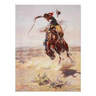 A Bad Hoss Charles Russell Fine Art Poster