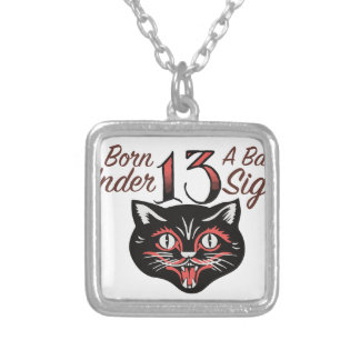 A Bad Sign Silver Plated Necklace