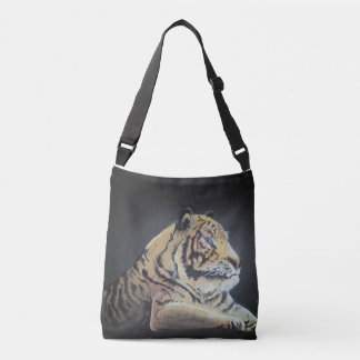 A BAG WITH A TIGER PRINT