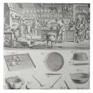 A baker's kitchen and equipment, from the 'Encyclo Ceramic Tile