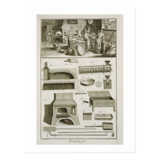 A bakery and baking equipment, from the 'Encyclope Postcard