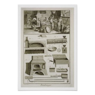 A bakery and baking equipment, from the 'Encyclope Poster