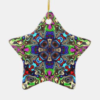 A Balance of Colors 1 Ceramic Star Ornament