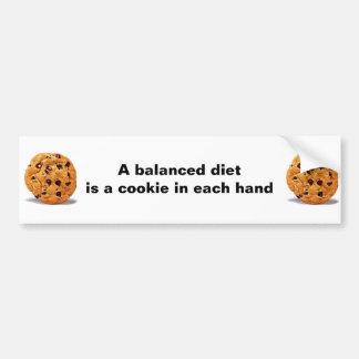 A balanced diet cookie in each hand bumper sticker