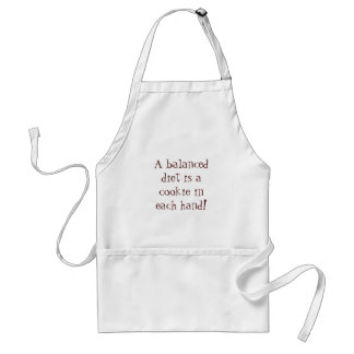 A balanced diet is a cookie in each hand! standard apron