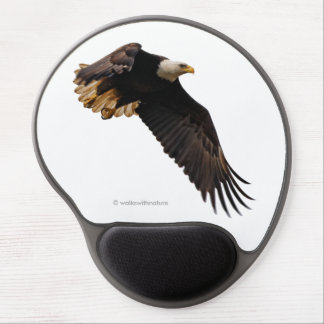 A Bald Eagle Takes to the Sky Gel Mouse Pad