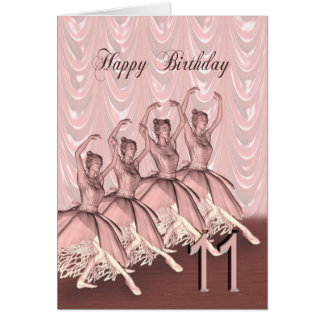 A ballerina birthday card