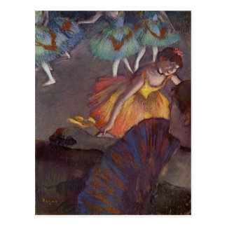 A Ballet Seen From The Opera Box  by Edgar Degas Postcard