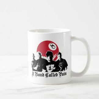 a band called pain basic white mug