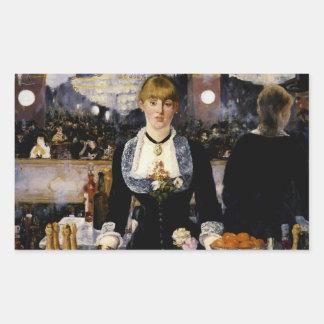 A Bar at the Folies-Bergere Rectangle Sticker