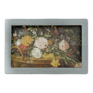 A Basket of Flowers - Jan Brueghel the Younger Belt Buckle
