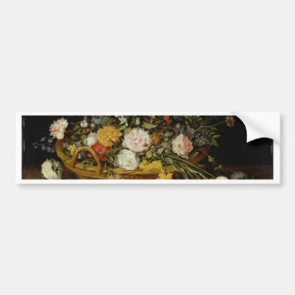 A Basket of Flowers - Jan Brueghel the Younger Bumper Sticker