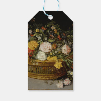 A Basket of Flowers - Jan Brueghel the Younger Gift Tags