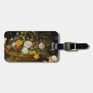 A Basket of Flowers - Jan Brueghel the Younger Luggage Tag