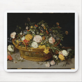 A Basket of Flowers - Jan Brueghel the Younger Mouse Pad