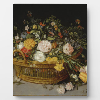 A Basket of Flowers - Jan Brueghel the Younger Plaque