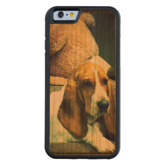 A Basset and her Bear Bumper Case, Cherry Wood Carved Cherry iPhone 6 Bumper Case
