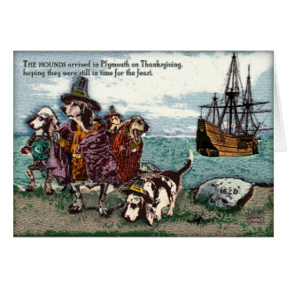 A Basset Thanksgving Card