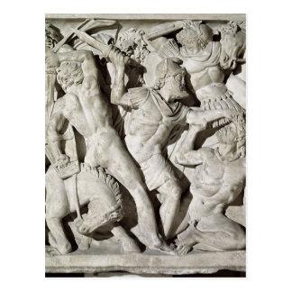 A battle between Romans and Galatians Postcard