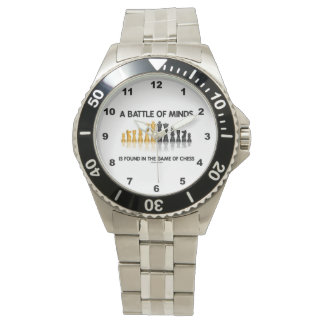 A Battle Of Minds Is Found In The Game Of Chess Wristwatch