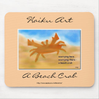 A Beach Crab Haiku Art Mousepad