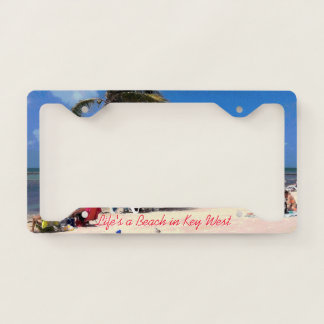 A Beach in Key West License Plate Frame