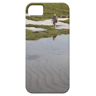 A beach scene of a villager taken in Bali island iPhone 5 Cases