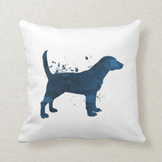 A beagle throw pillow