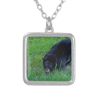 A Bear Over There Silver Plated Necklace
