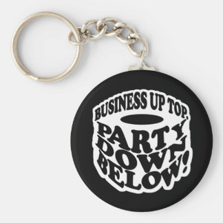 A Beard Is a Party Down Below Basic Round Button Keychain