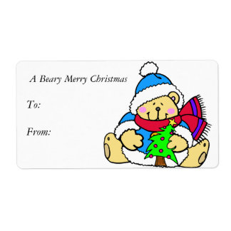 A Beary Merry Christmas Gift Tags