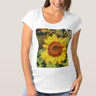 A beautiful abstract sunflower maternity T-Shirt