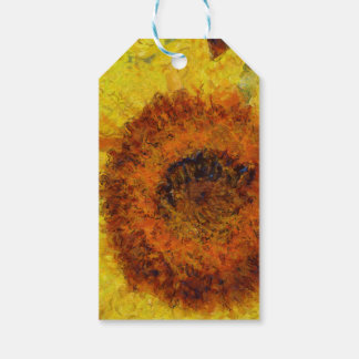 A beautiful abstract sunflower pack of gift tags