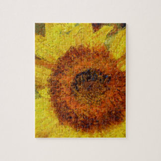 A beautiful abstract sunflower puzzle