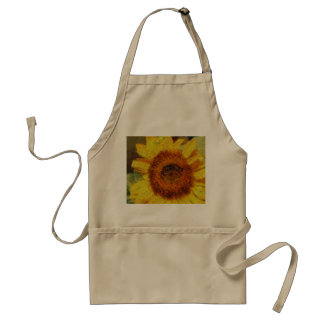 A beautiful abstract sunflower standard apron