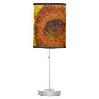 A beautiful abstract sunflower table lamp