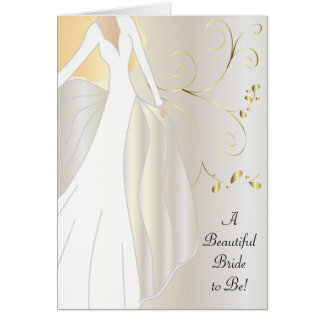A Beautiful Bride to Be Congratulations Card. Card