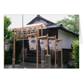 a Beautiful Buddhist Temple in Kyoto Japan Greeting Card