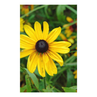 A beautiful close up of a yellow flower customized stationery