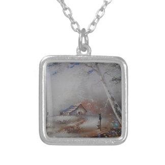 a beautiful day silver plated necklace