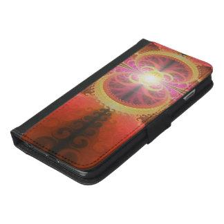 A Beautiful Fractal Burst of Liquid Sunset Colors iPhone 6/6s Plus Wallet Case