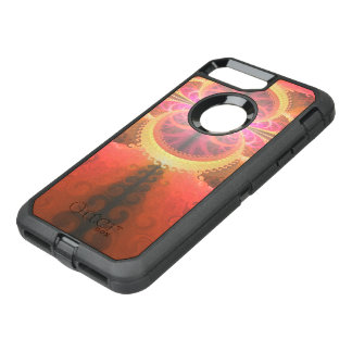 A Beautiful Fractal Burst of Liquid Sunset Colors OtterBox Defender iPhone 8 Plus/7 Plus Case