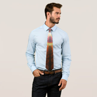 A Beautiful Fractal Burst of Liquid Sunset Colors Tie